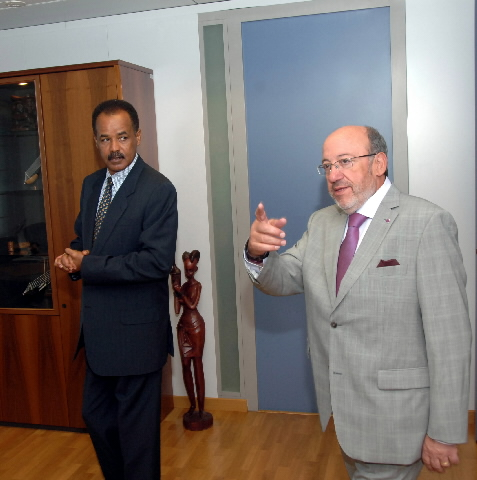 Visit by Issaias Afewerki, President of Eritrea, to the EC
