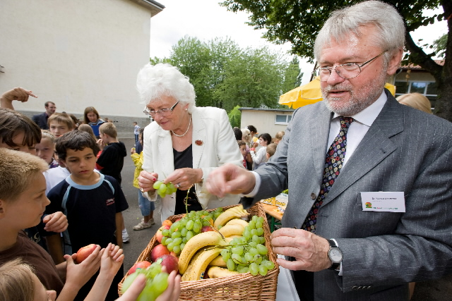 Establishment of a scheme to provide free fruit and vegetables to school children by Mariann Fischer Boel, Member of the EC