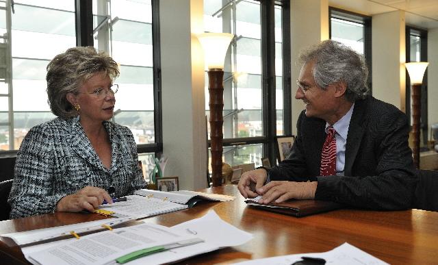 Visite de Henning Kagermann, co-PDG de SAP AG, à la CE