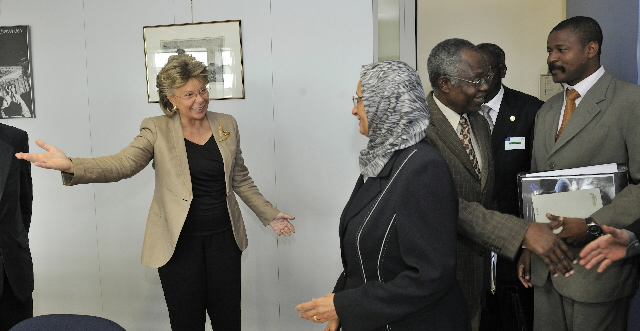 Meeting between Viviane Reding, Membre of the EC, and a delegation of the African Union