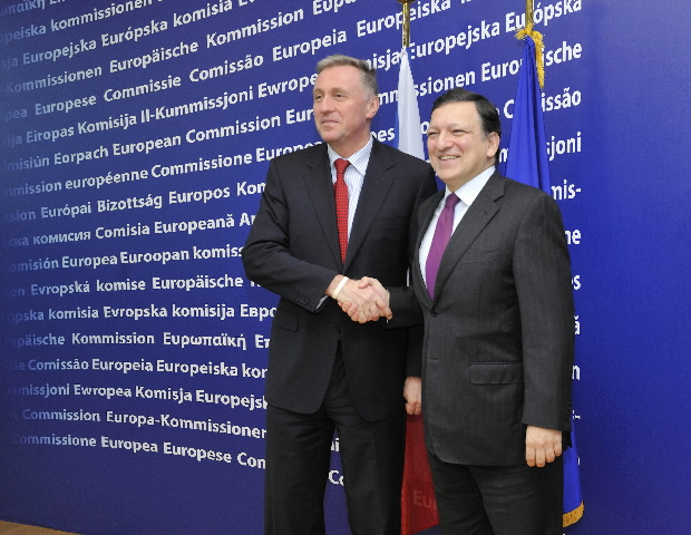 Visit of Mirek Topolánek, Czech Prime Minister and President in office of the Council of the EU, to the EC