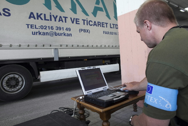Operation of the Frontex agency on the Turkish, Bulgarian and Greek borders