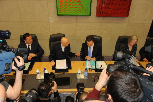 Visit of Giorgio Napolitano, President of Italy, to the EC