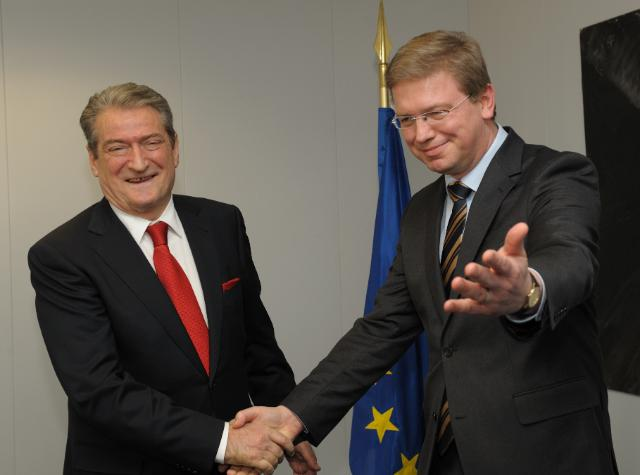 Visit of Sali Berisha, Albanian Prime Minister, to the EC