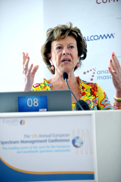Participation of Neelie Kroes, Vice-President of the EC, at the 5th European Spectrum Management Conference