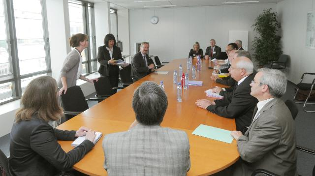 Visit of a delegation of stakeholders to the Lyon-Turin Transalpine link project (latransalpine), to the EC