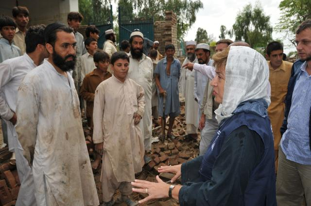 Visit of Kristalina Georgieva, Member of the EC, to flood-hit Pakistan