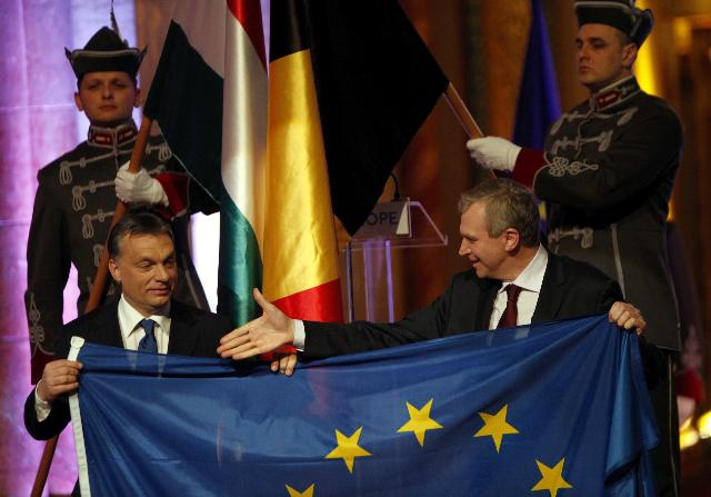 Handover Ceremony of the Presidency of the Council of the EU between Belgium and Hungary