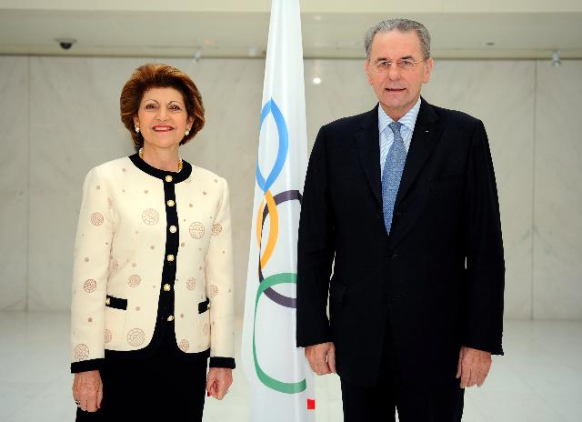 Meeting between Jacques Rogge, President of the IOC, and Androulla Vassiliou, Member of the EC