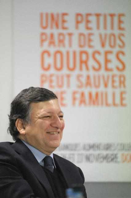 Visit of José Manuel Barroso, President of the EC, to the Food Bank of Lower Rhine