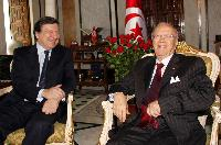 Visit of José Manuel Barroso, President of the EC, to Tunisia