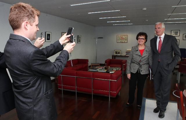 Visit of Christine Boutin, President of the French Christian Democratic Party, to the EC