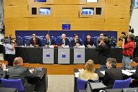 Participation of José Manuel Barroso, President of the EC, at the joint press conference on the EP debate on the start of the Polish Presidency