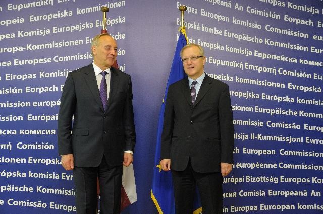 Visit of Andris Bērziņš, President of Latvia, to the EC