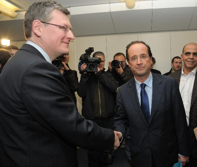 Visit of François Hollande, President of the General Council of Corrèze, to the EC