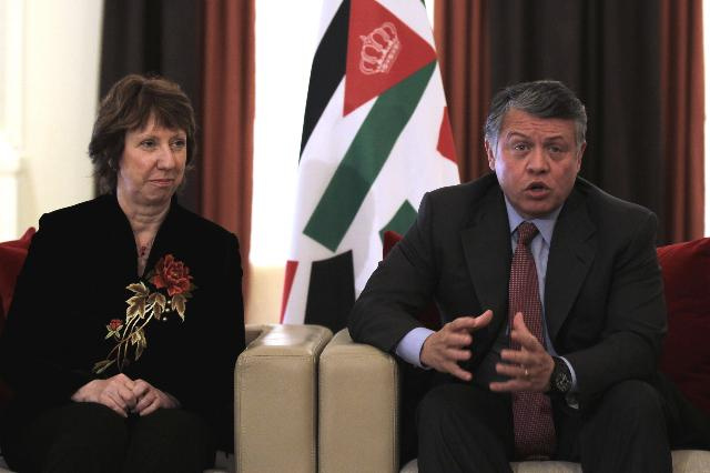 Visite de Catherine Ashton, vice-présidente de la CE, en Jordanie