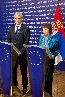 Visite de Boris Tadić, président de la Serbie, à la CE