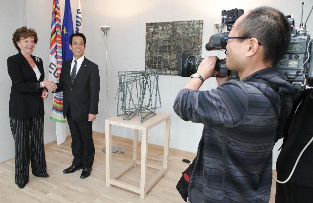 Visit of Tatsuo Kawabata, Japanese Minister for Internal Affairs and Communications, to the EC