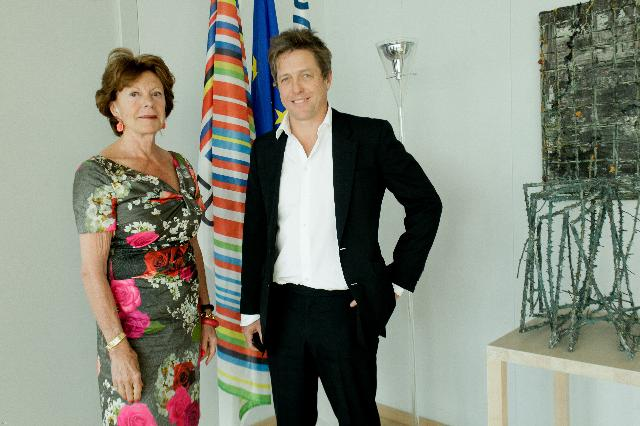 Visit of Hugh Grant, British actor and film producer, to the EC