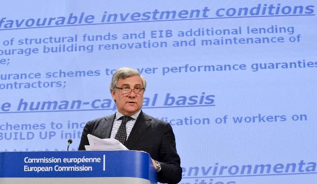 Press conference by Antonio Tajani, Vice-President of the EC, on the strategy to boost the competitiveness of the construction sector