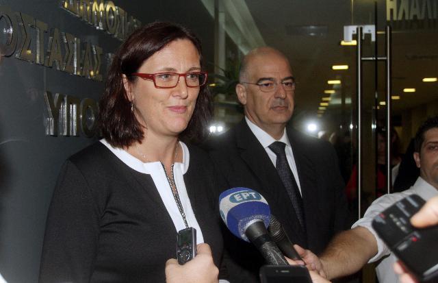 Visit of Cecilia Malmström, Member of the EC, to Greece