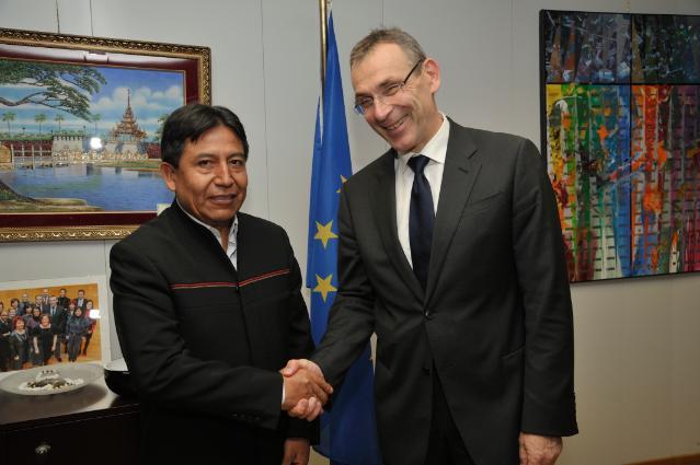 Visite de David Choquehuanca Céspedes, ministre bolivien des Relations extérieures et du Culte, à la CE