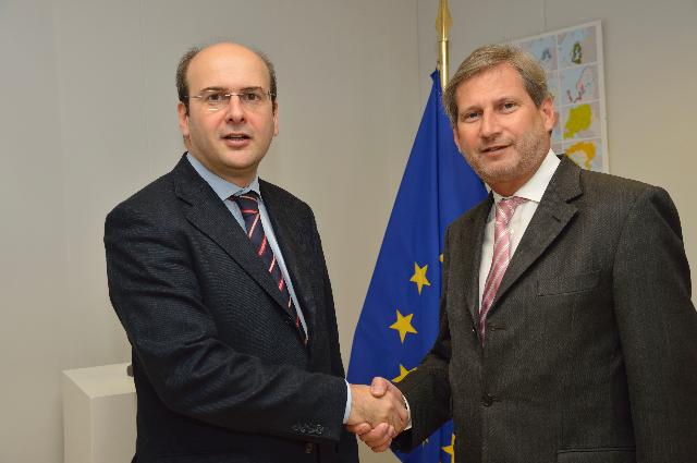 Visit of Kostas Hatzidakis, Greek Minister for Development, Competitiveness, Infrastructure, Transport and Networks, to the EC