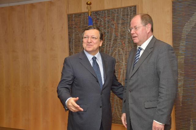 Visit of Peer Steinbrück, designated candidate of the SPD for the post of Chancellor in the 2013 German federal elections, to the EC
