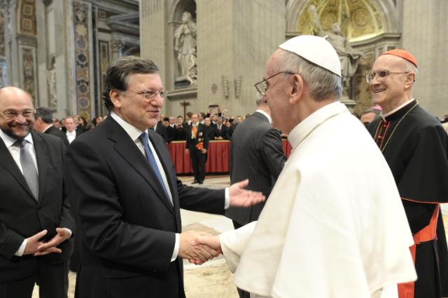 Participation of José Manuel Barroso, President of the EC, in the inaugural mass of Pope Francis