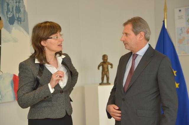 Visite d'Ekaterina Zaharieva, vice-Première ministre bulgare et ministre du Développement régional et des Travaux publics, à la CE