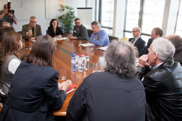 Visit of several European films directors to the EC