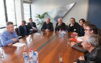 Visite de plusieurs réalisateurs européens à la CE