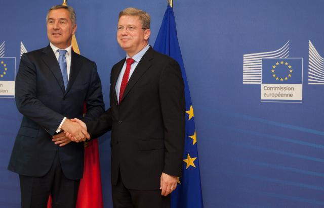Visite de Milo Đukanović, Premier ministre monténégrin, à la CE