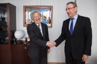 Visite de Masato Watanabe, vice-président de la JICA, à la CE
