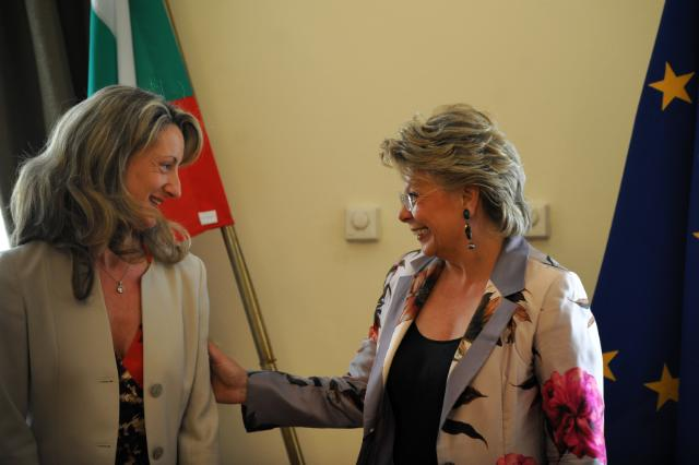 Citizens' Dialogue in Sofia with Viviane Reding