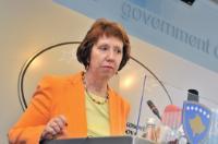 Visite de Catherine Ashton, vice-présidente de la CE, au Kosovo