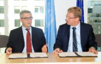 Signatures de plusieurs accords de coopération entre l'UE, Unicef et l'UNRWA