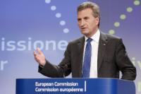 Press conference by Günther Oettinger, Member of the EC, on the EC guidance for state intervention in electricity