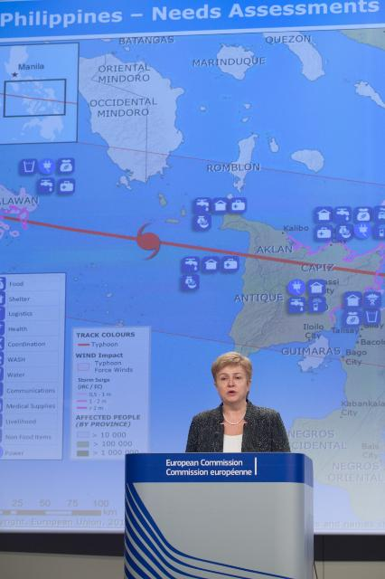 Press conference by Kristalina Georgieva, Member of the EC, following her visit to the Philippines