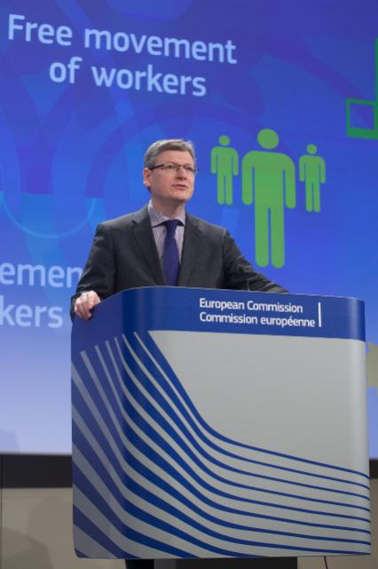Press conference by László Andor, Member of the EC, Member of the EC, on the guide on application of 'Habitual Residence Test' for social security