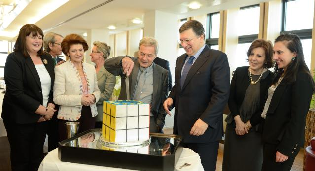 Visit of Ernő Rubik, Hungarian professor, architect and inventor of the Rubik's cube, to the EC