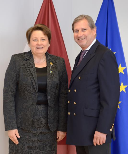 Visit of Laimdota Straujuma, Latvian Prime Minister, to the EC