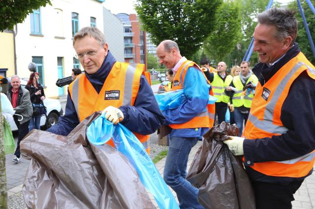 Launch of the initiative 'Let's Clean up Europe' initiative, with the participation of Janez Potočnik, Member of the EC, and the EC staff