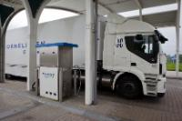 LNG Liquefied biogas tank station in Tilburg, Netherlands