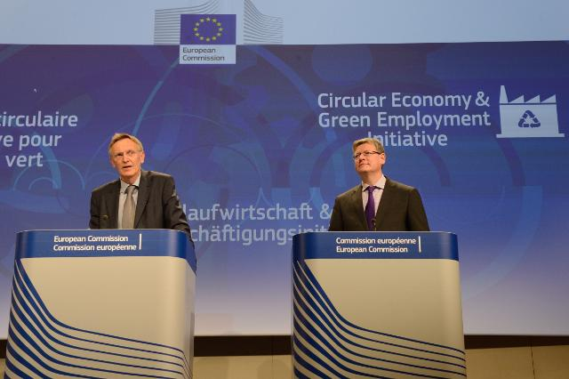 Joint press conference by Janez Potočnik and László Andor, Members of the EC, on the new Green Employment Initiative to support job creation in the green economy