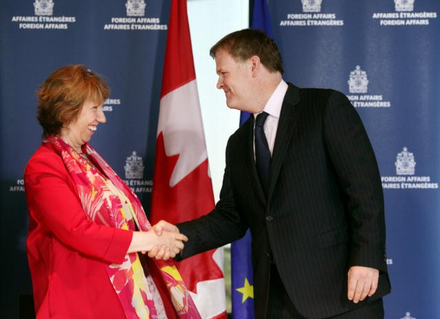 Meeting between John Baird, Canadian Minister for Foreign Affairs, and Catherine Ashton, Vice-President of the EC