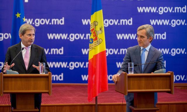 Visite de Johannes Hahn, membre de la CE,  en Moldavie