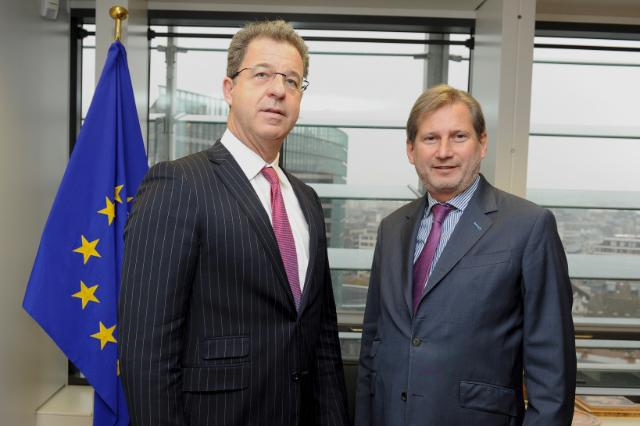 Johannes Hahn receives Serge Brammertz, Chief Prosecutor of the International Criminal Tribunal for the former Yugoslavia