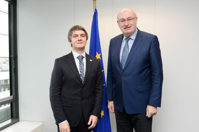 Visite de Matteo Bartolini, président du CEJA, à la CE
