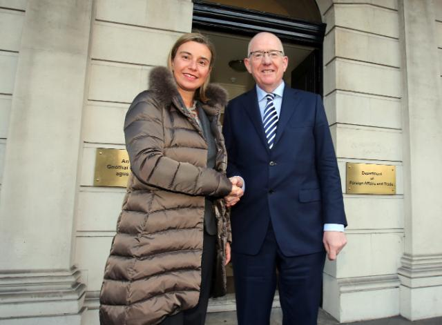 Visite de Federica Mogherini, vice-présidente de la CE, en Irlande